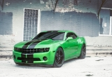Green Chevrolet Camaro